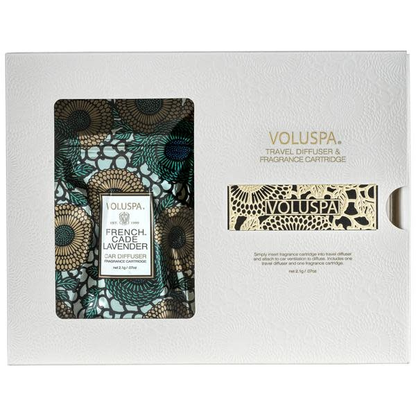 Voluspa French Cade Lavendar Travel Diffuser and Fragrance Cartridge