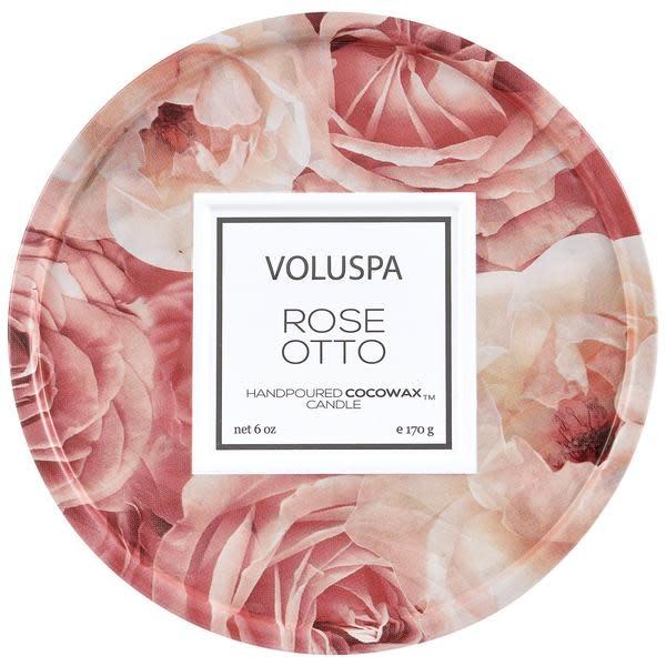 Voluspa Rose Otto 6 oz mini tin candle