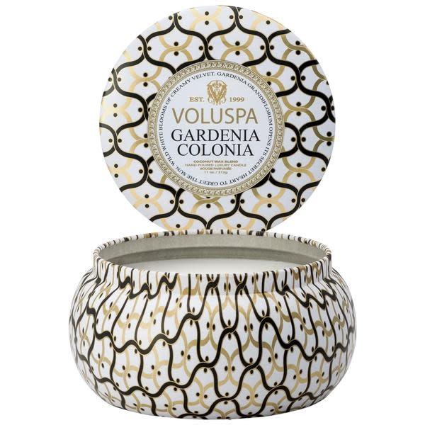 Voluspa Gardenia Colonia 2 wick Maison Metallo Candle