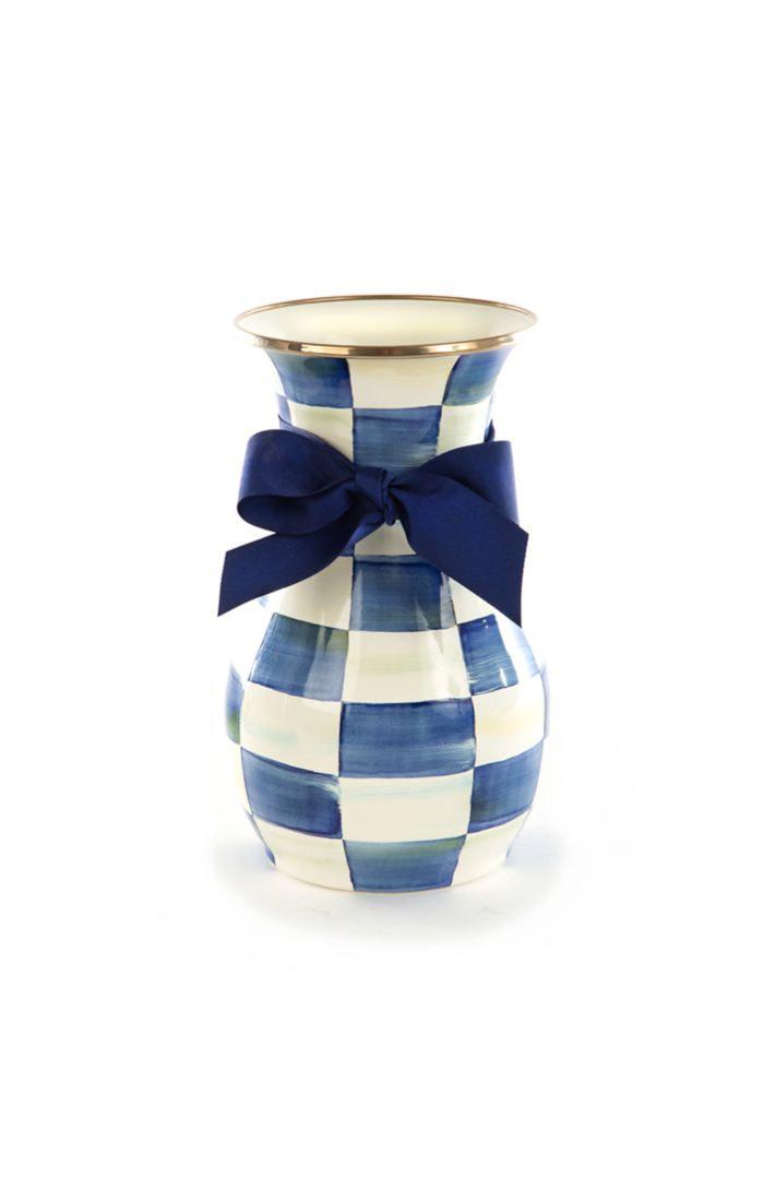 MacKenzie Childs Royal Check Vase - Tall