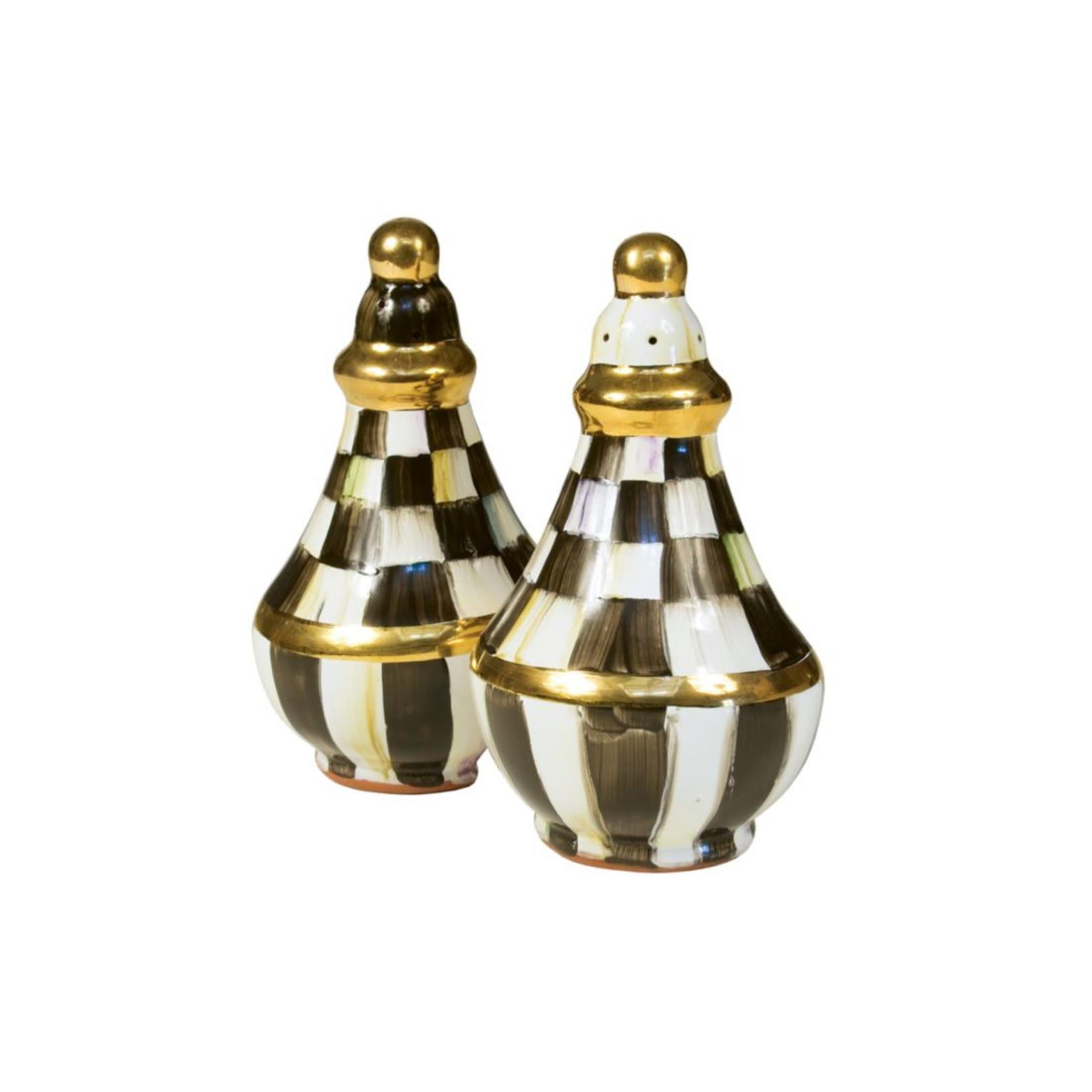 MacKenzie Childs Courtly Check Salt & Pepper Shaker Set
