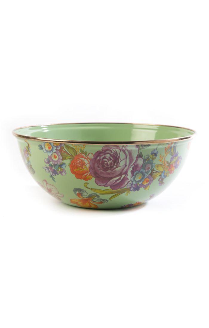 MacKenzie Childs Flower Market Medium Everyday Bowl - Green