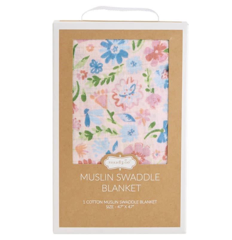 MudPie Secret Garden Muslin Swaddle