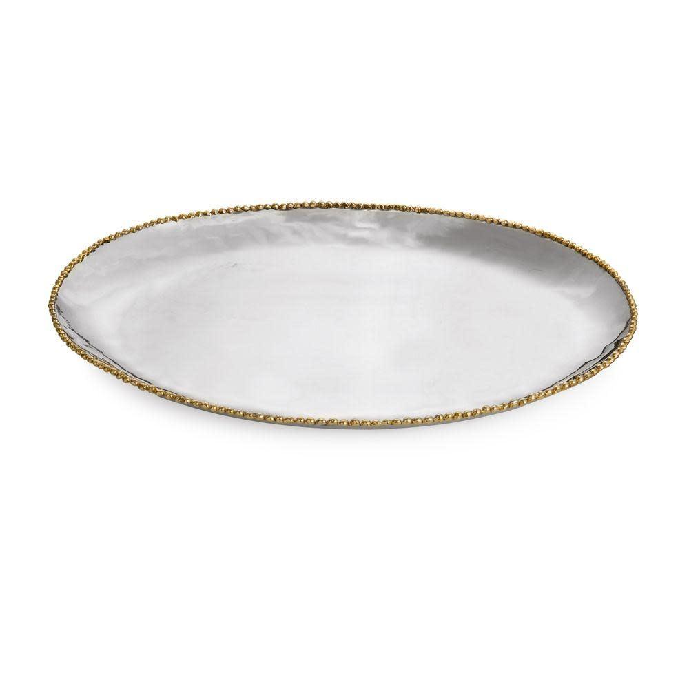 Michael Aram Molten Large Gold Oval Platter
