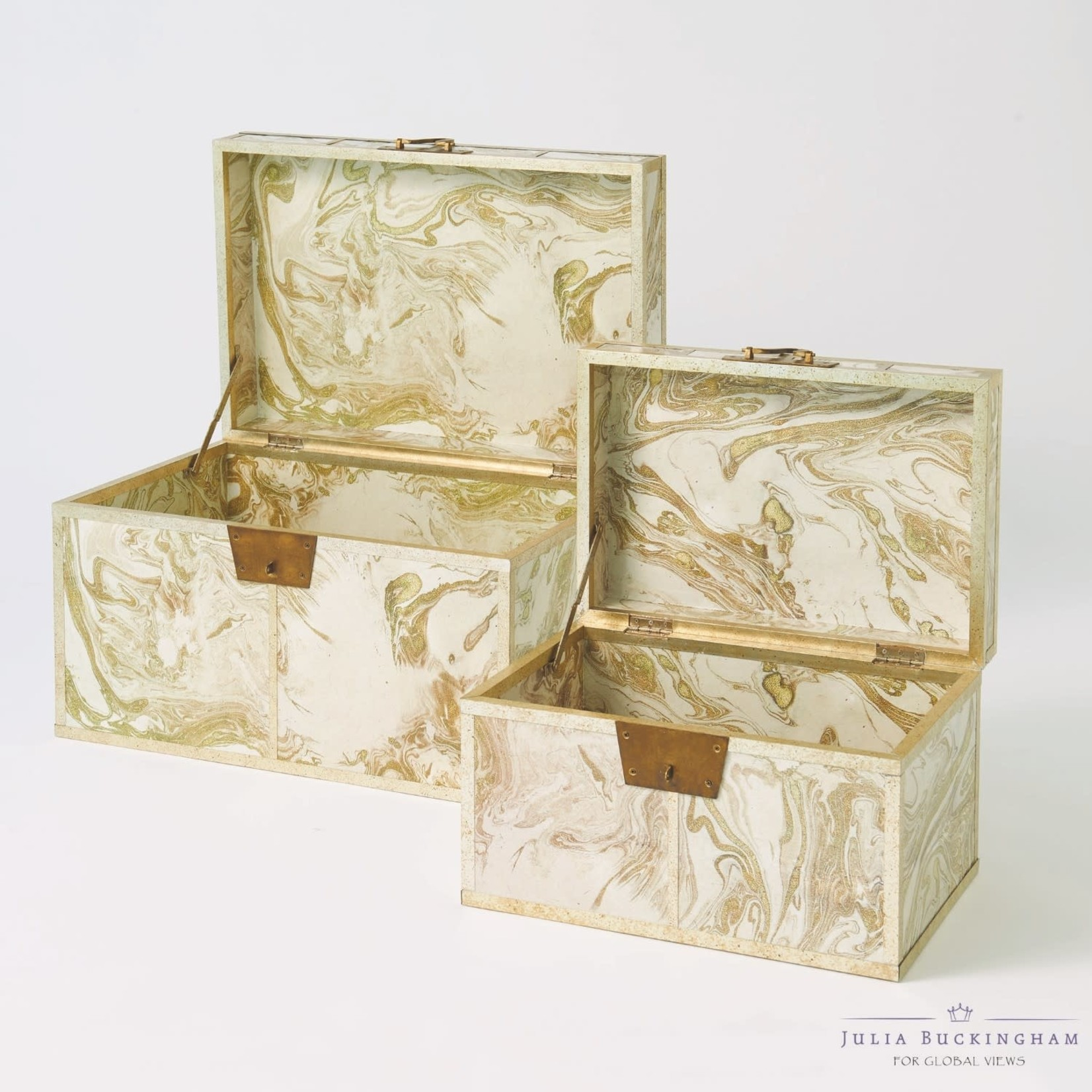Treasure Trunk-Gold/Creme-Large