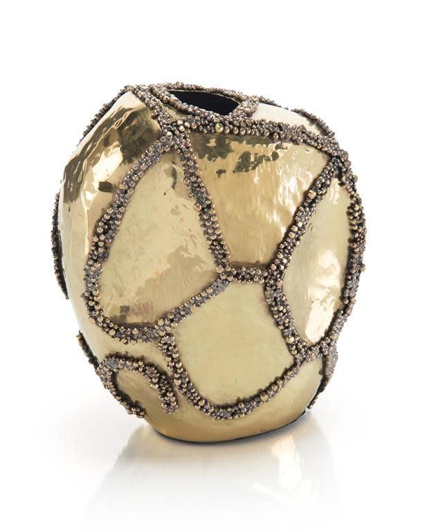 John Richard Beaded Patchwork Vase II