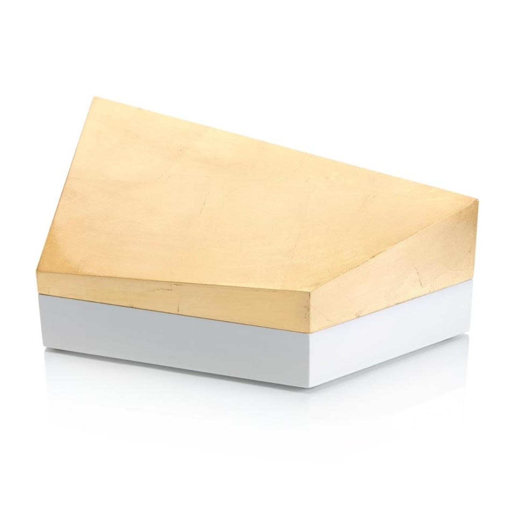 John Richard Cubist Box Gold and White II
