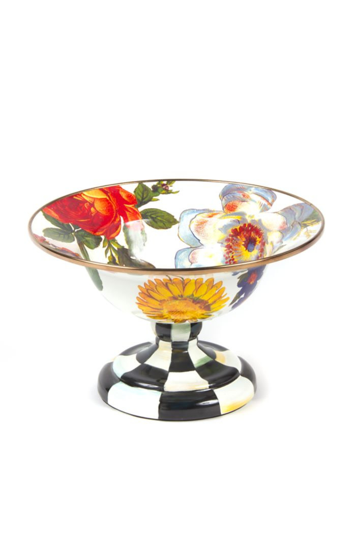 MacKenzie Childs Flower Market Small Compote