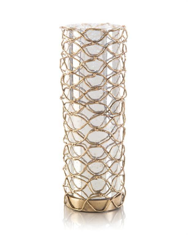 John Richard Woven Brass Candleholder II