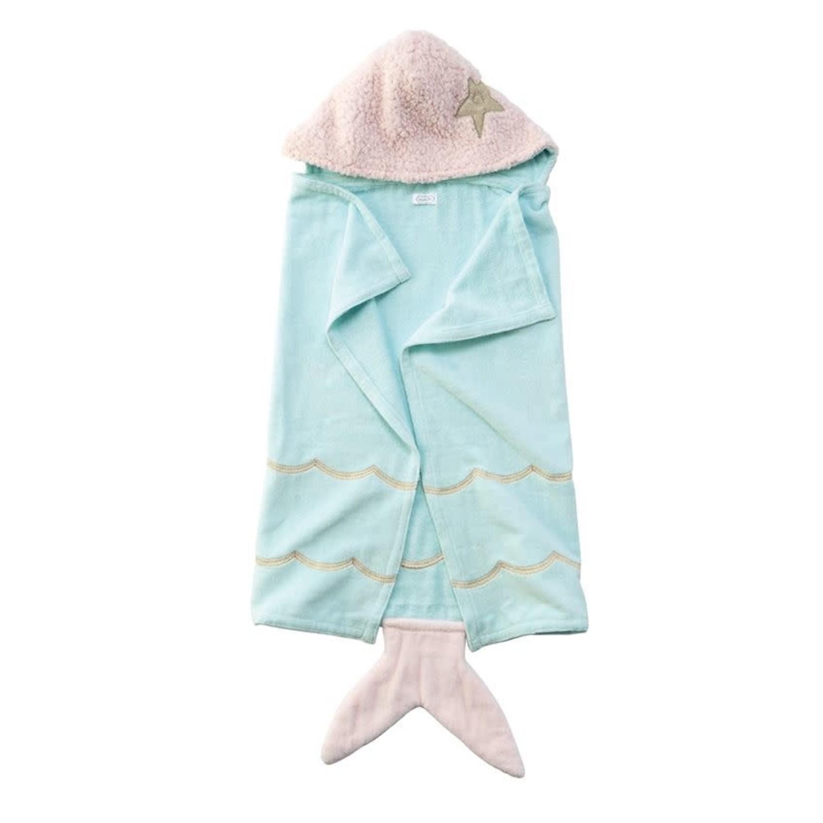 MudPie Mermaid Baby Hooded Towel
