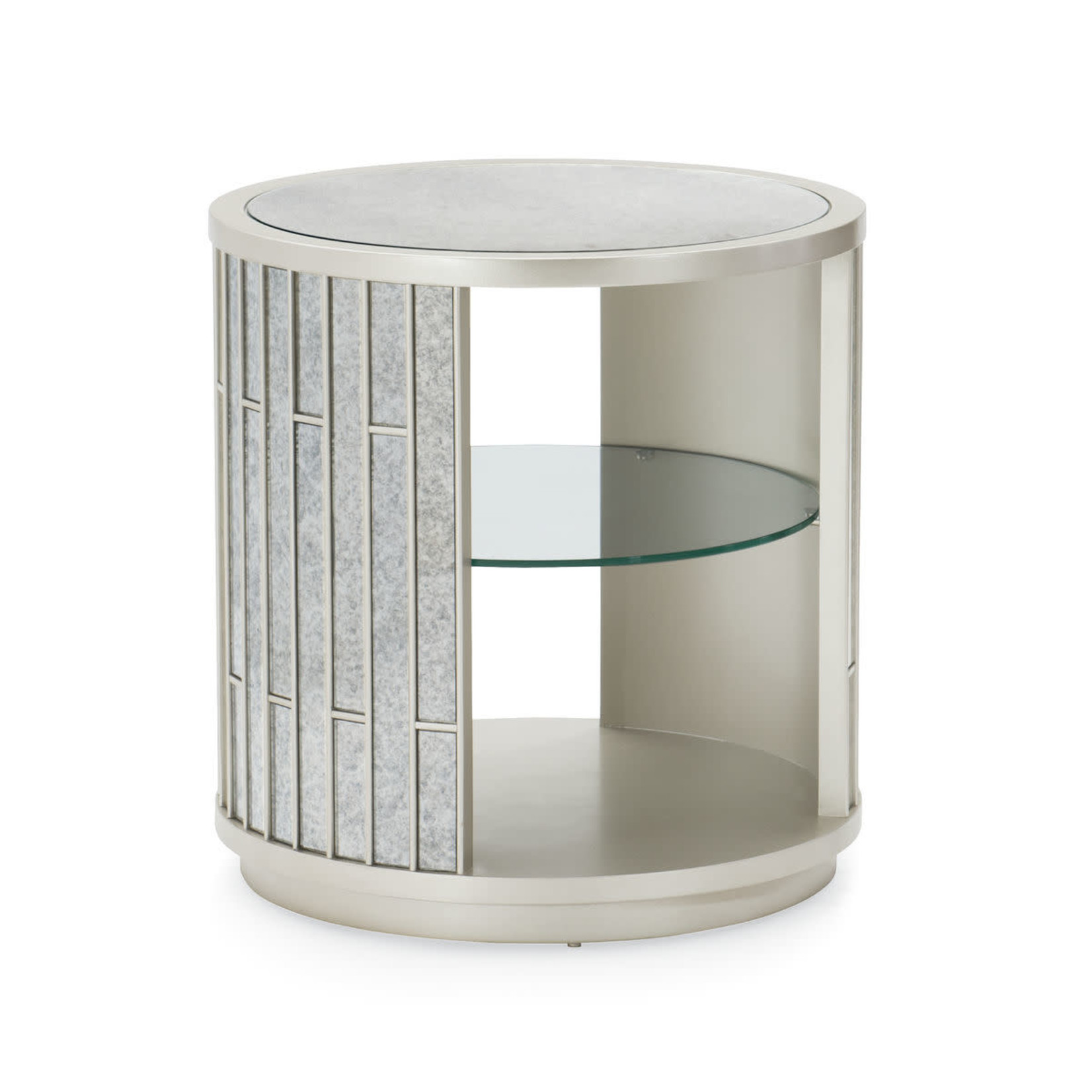 Mirrored Lamp Table