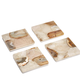 Two's Company Set of 4 Agate Coasters with Marble