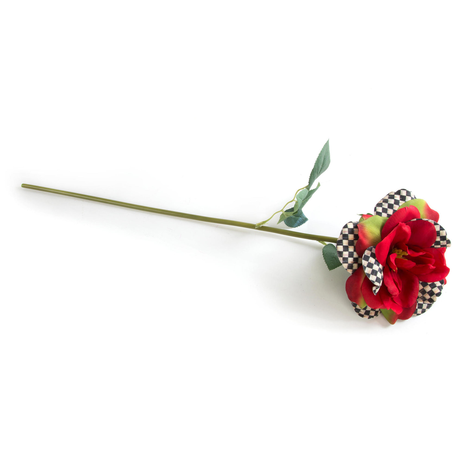 MacKenzie Childs Courtly Check Rose - Red
