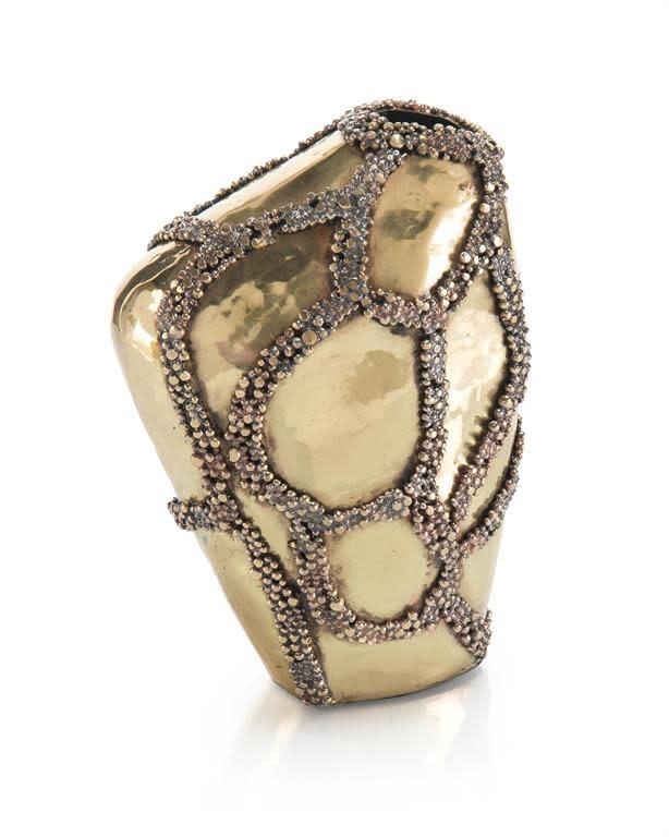 John Richard Beaded Patchwork Vase I