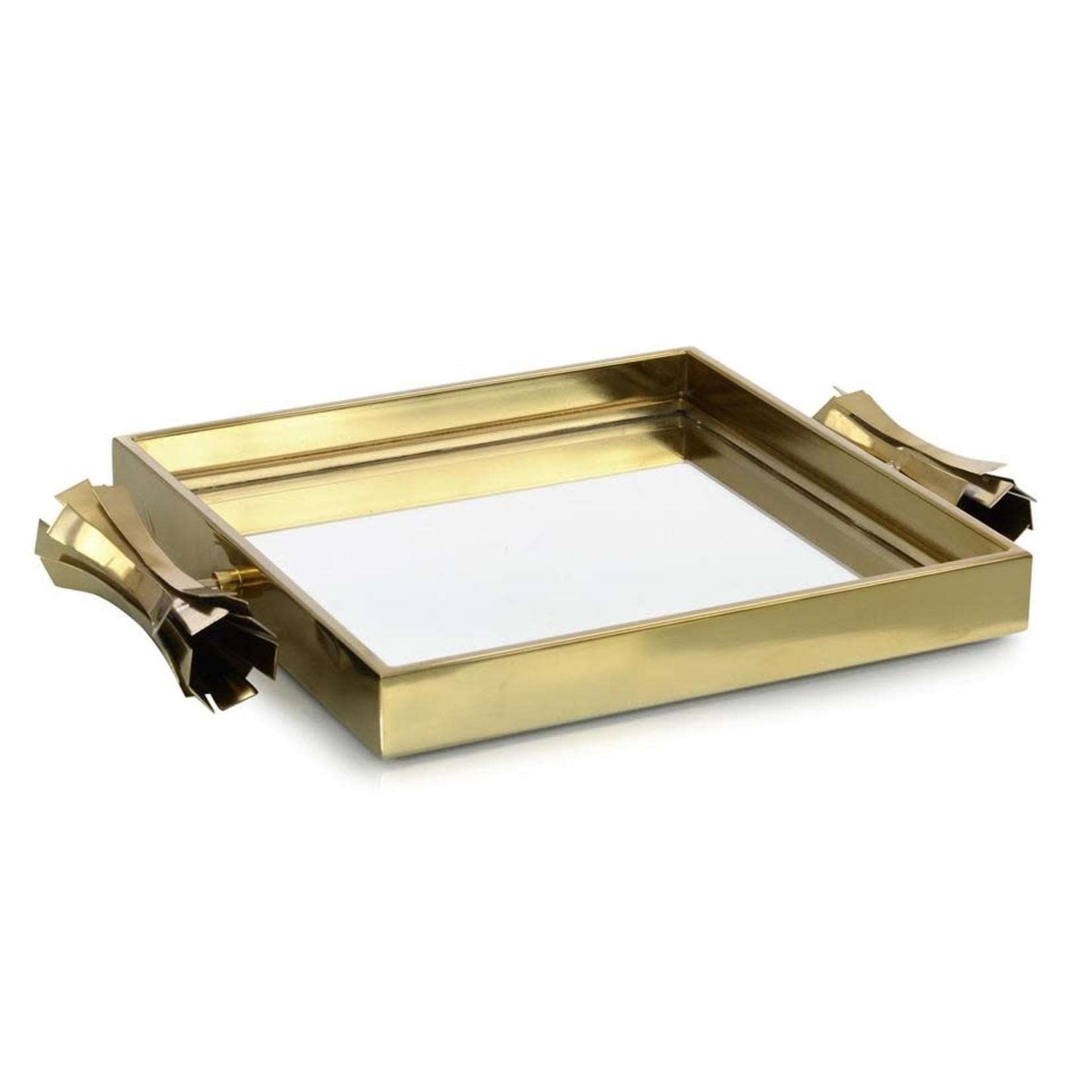 John Richard Square Brass Mirrored Tray II