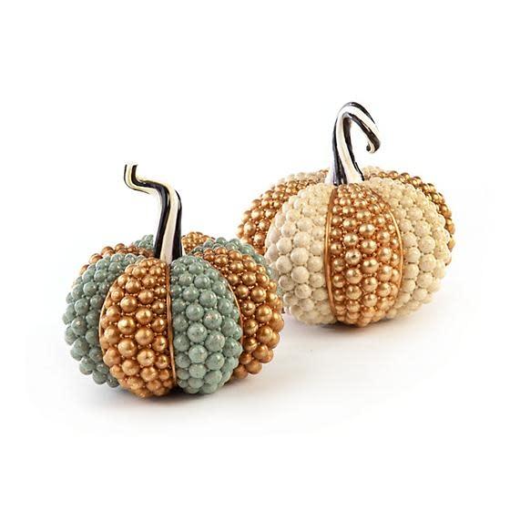 MacKenzie Childs Autumn Harvest Pumpkin - Sage Jewel