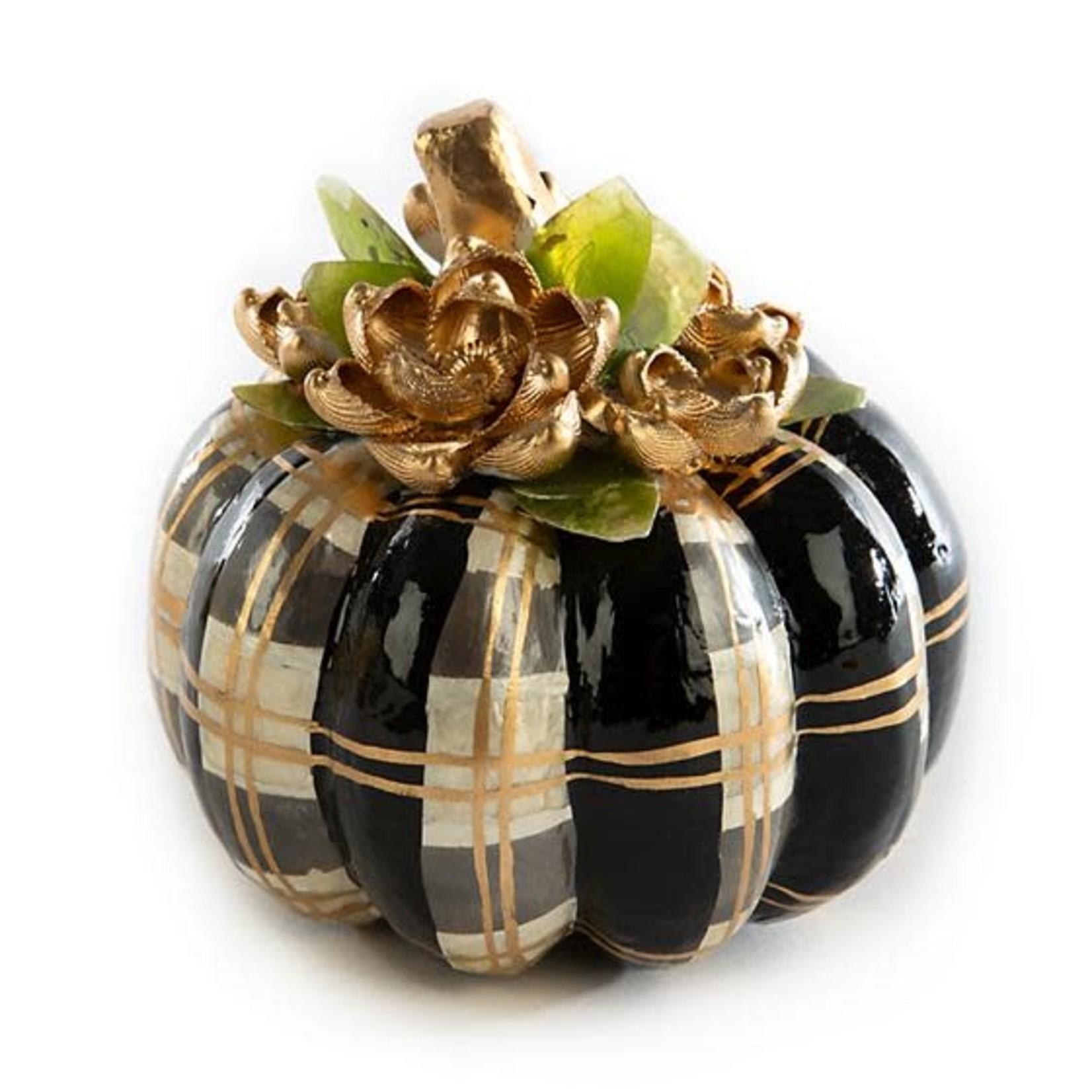 MacKenzie Childs Autumn Spice Capiz Pumpkin