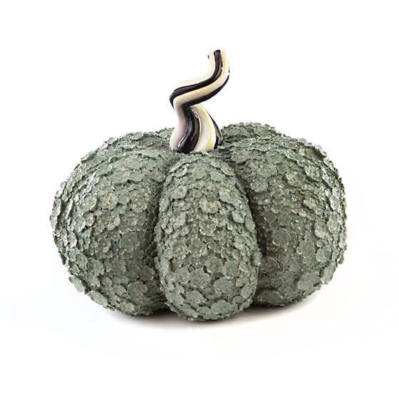 MacKenzie Childs Autumn Harvest Pumpkin - Sage