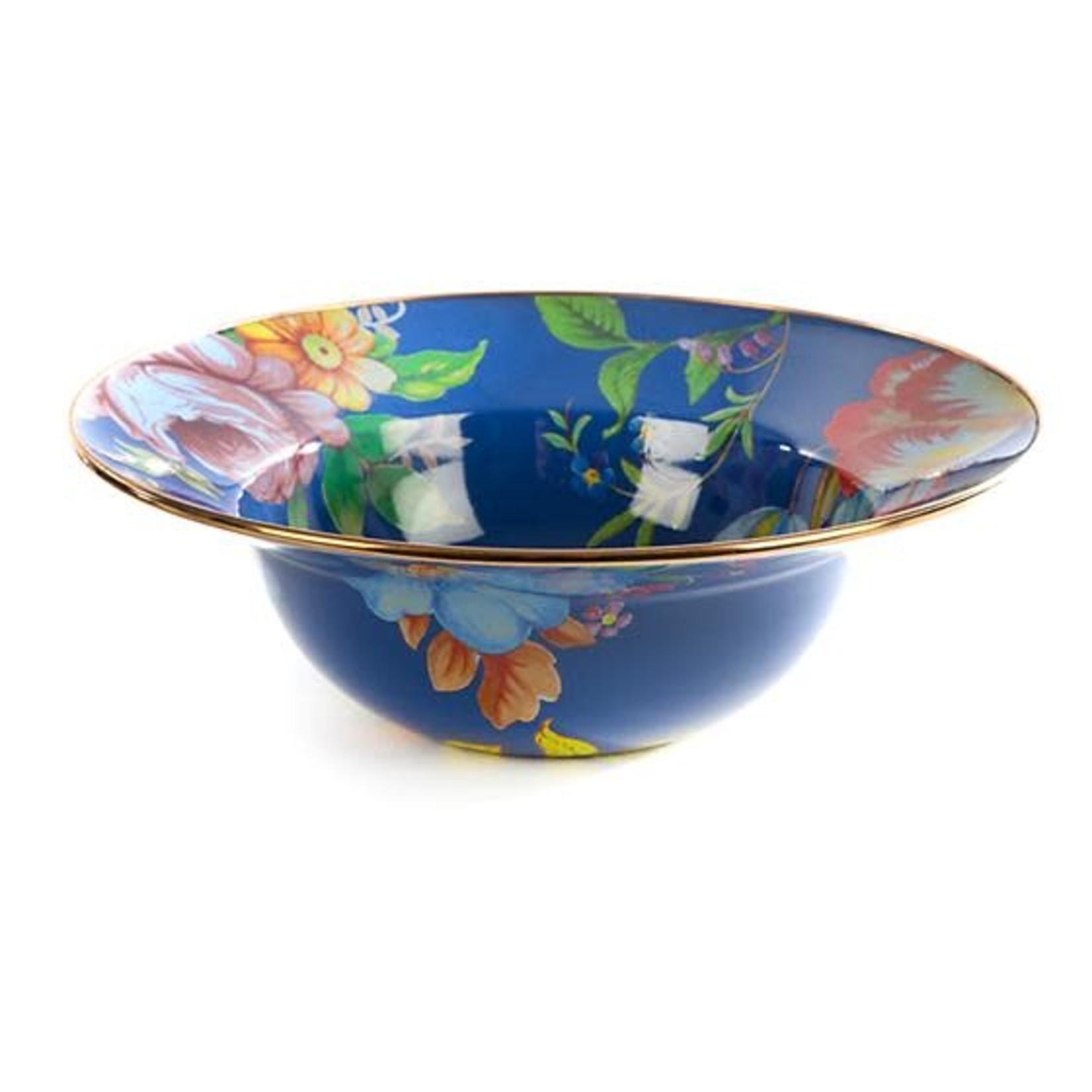 MacKenzie Childs Flower Market Serving Bowl - Lapis