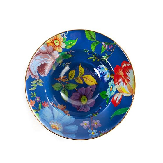 MacKenzie Childs Flower Market Serving Bowl - Lapis
