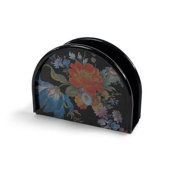MacKenzie Childs Flower Market Napkin Holder - Black