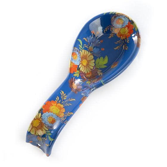 MacKenzie Childs Flower Market Spoon Rest - Lapis