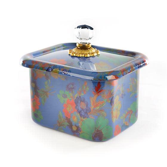 MacKenzie Childs Flower Market Recipe Box - Lapis