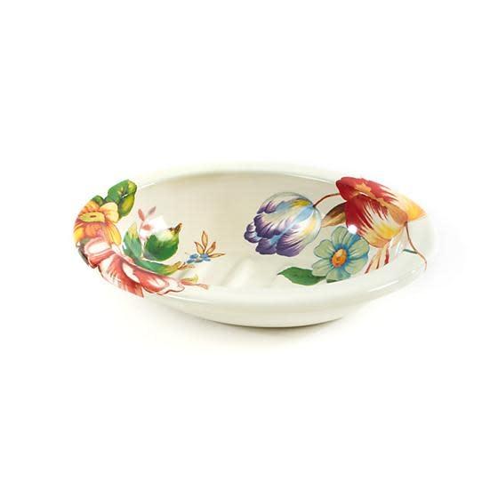 MacKenzie Childs Flower Market Soap Dish - White