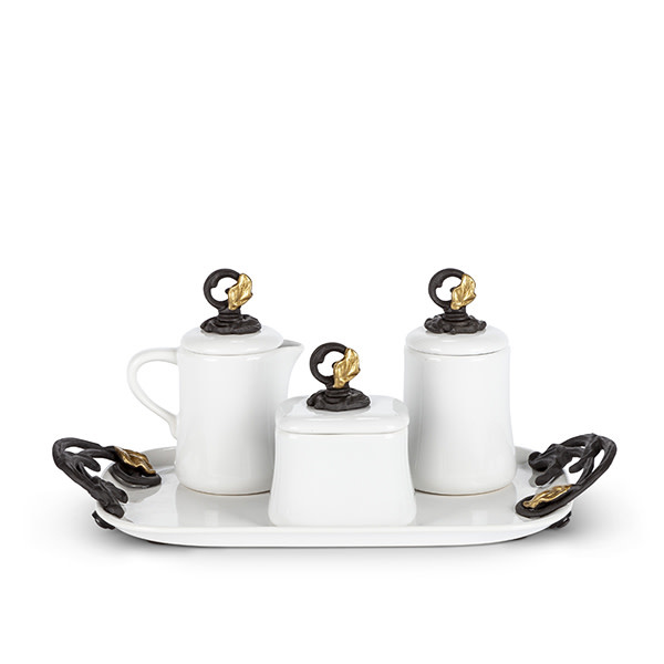 The GG Collection GL Coffee Set w/Tray
