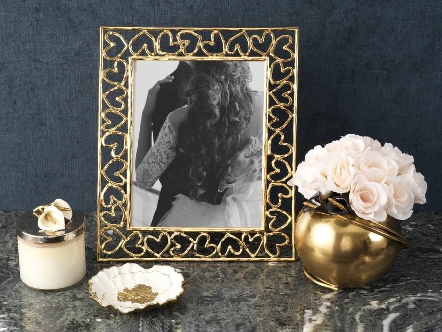 Michael Aram Heart Photo Frame Gold 8x10