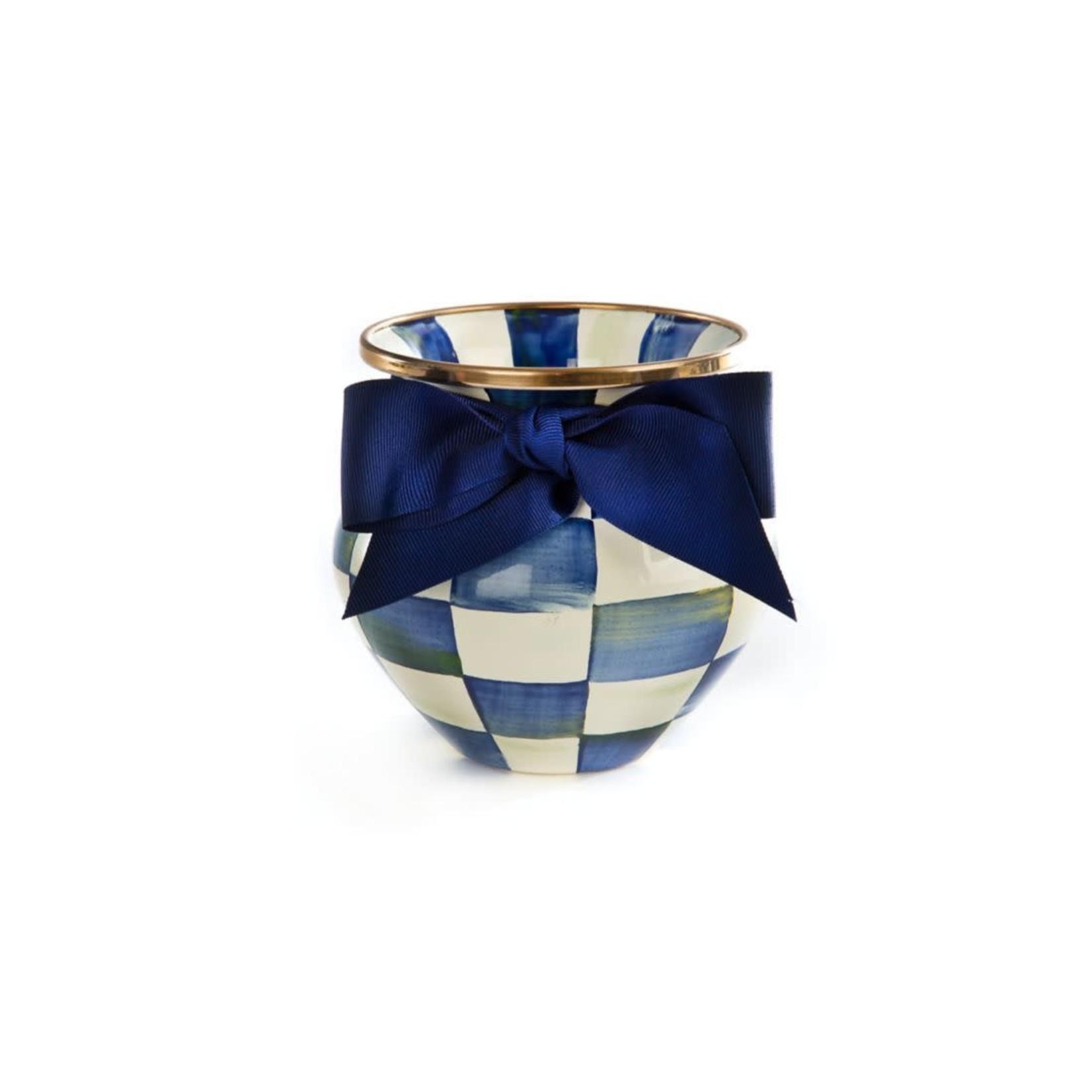 MacKenzie Childs Royal Check Vase
