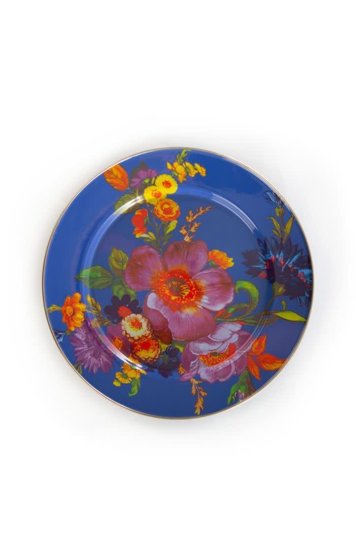MacKenzie Childs Flower Market Charger/Plate - Lapis