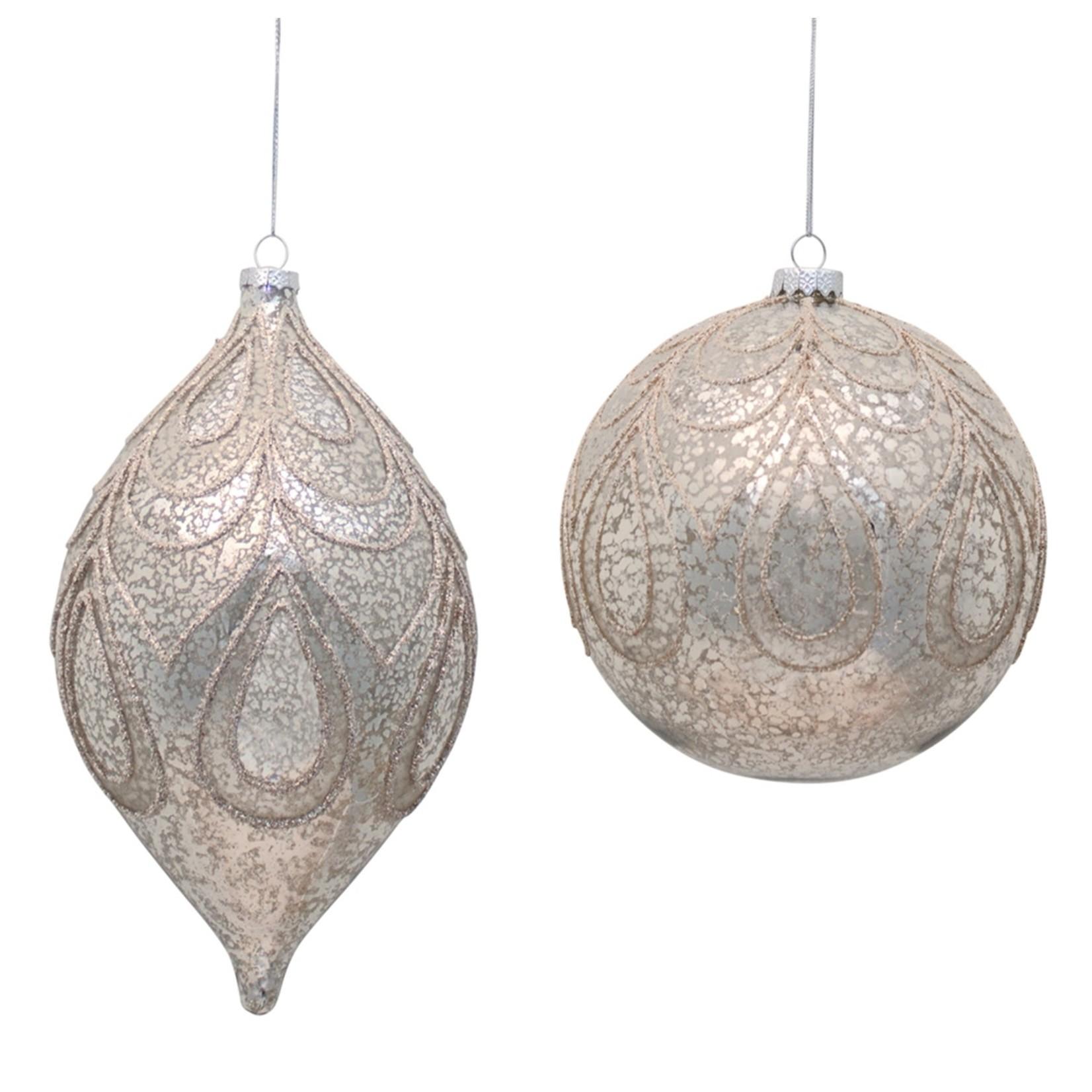 Oversized Mercury Glass Ornament