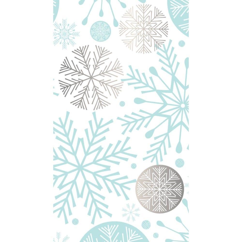 Metallic Paper Guest Towel Snowflakes