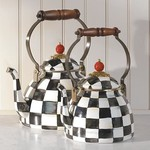 MacKenzie Childs Courtly Check Enamel Tea Kettle - 2 Quart