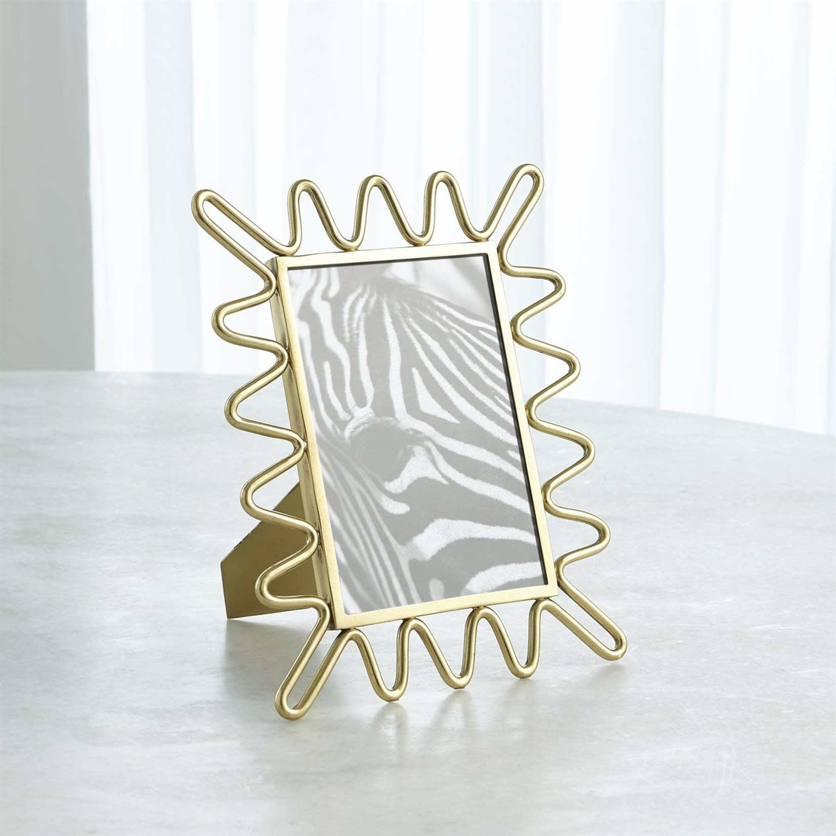 Ric Rac Picture Frame - Gold Small