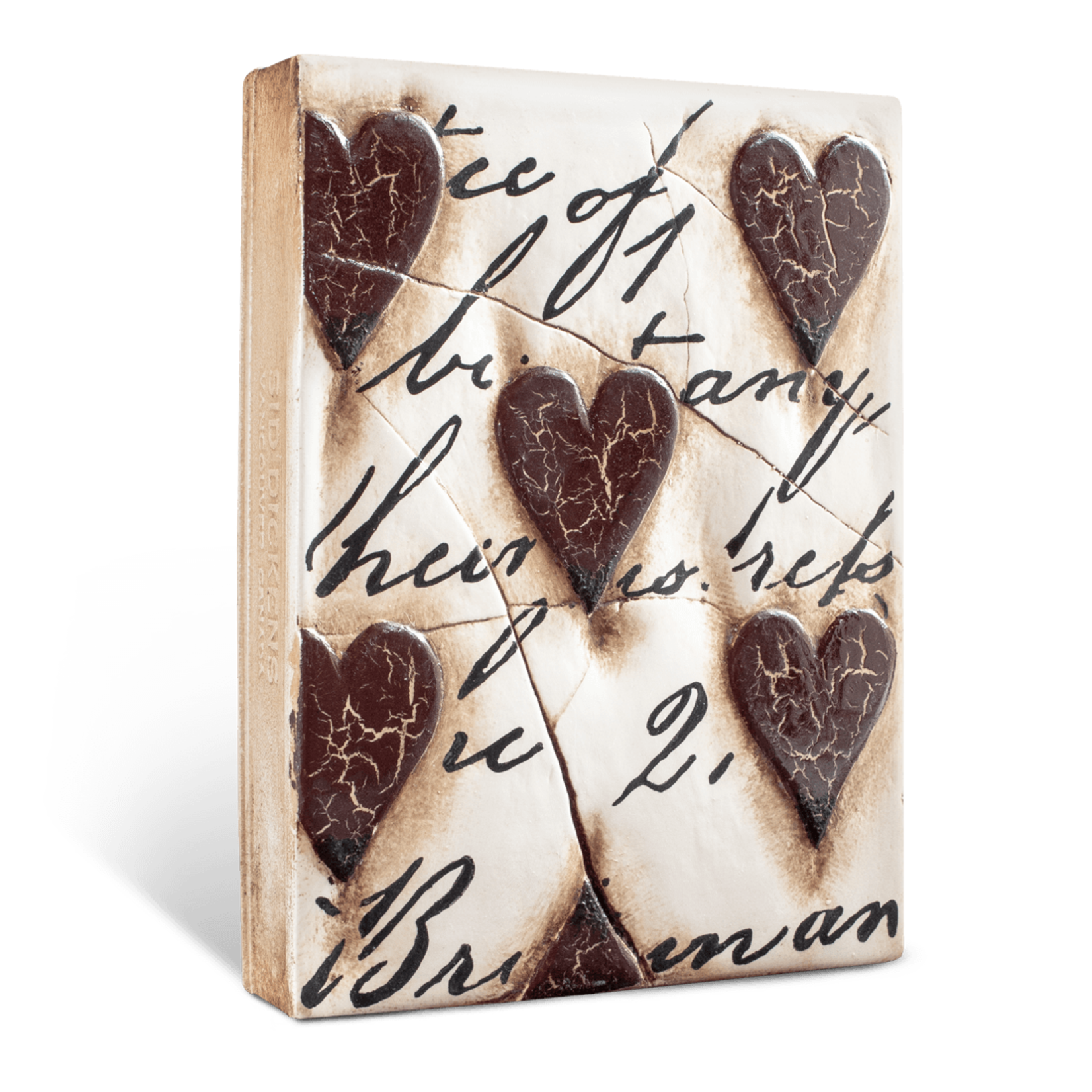 Sid Dickens Hearts with Script - Red