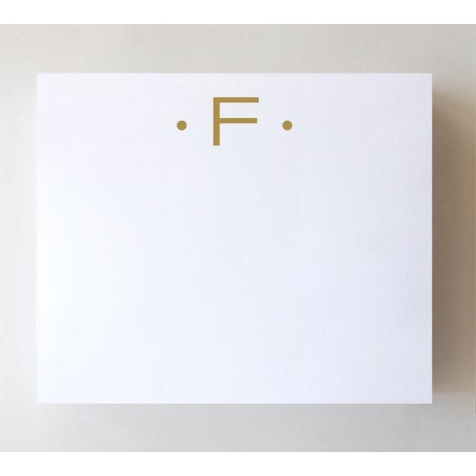 """Black Ink LUXE GOLD INITIAL NOTEPAD """"F"""""""