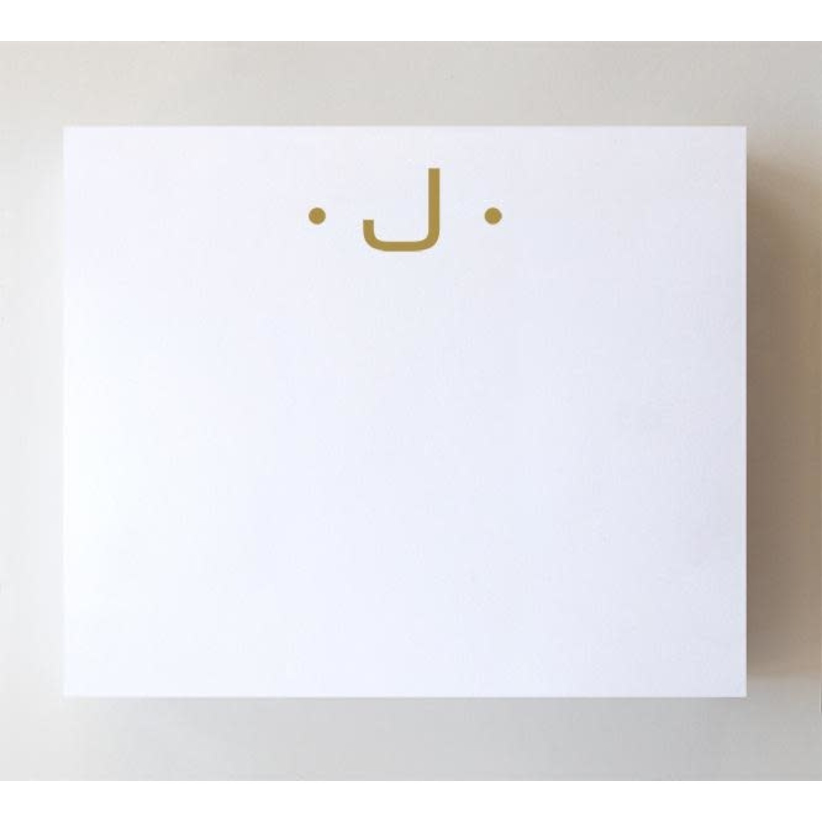 """Black Ink LUXE GOLD INITIAL NOTEPAD """"J"""""""