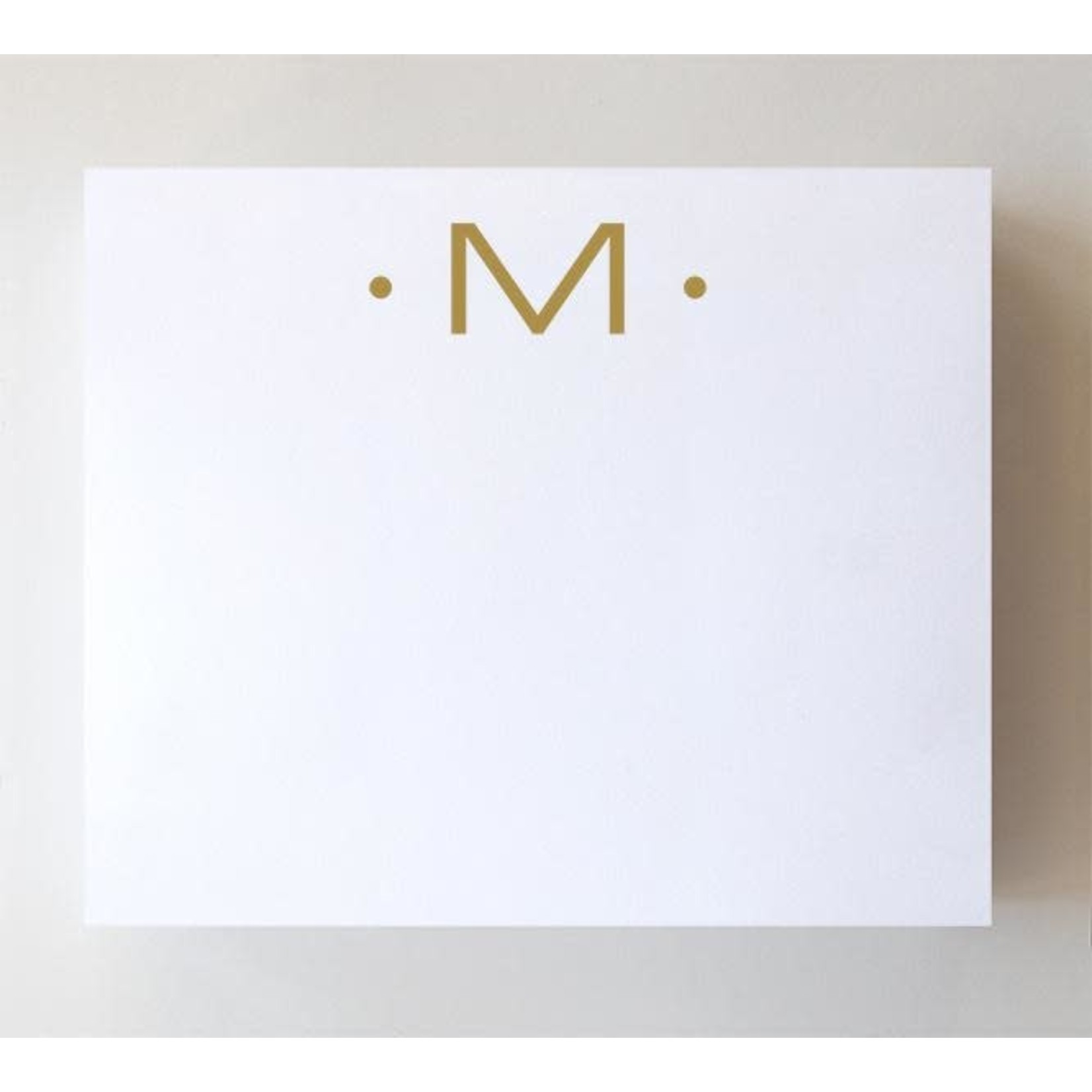 """Black Ink LUXE GOLD INITIAL NOTEPAD """"M"""""""