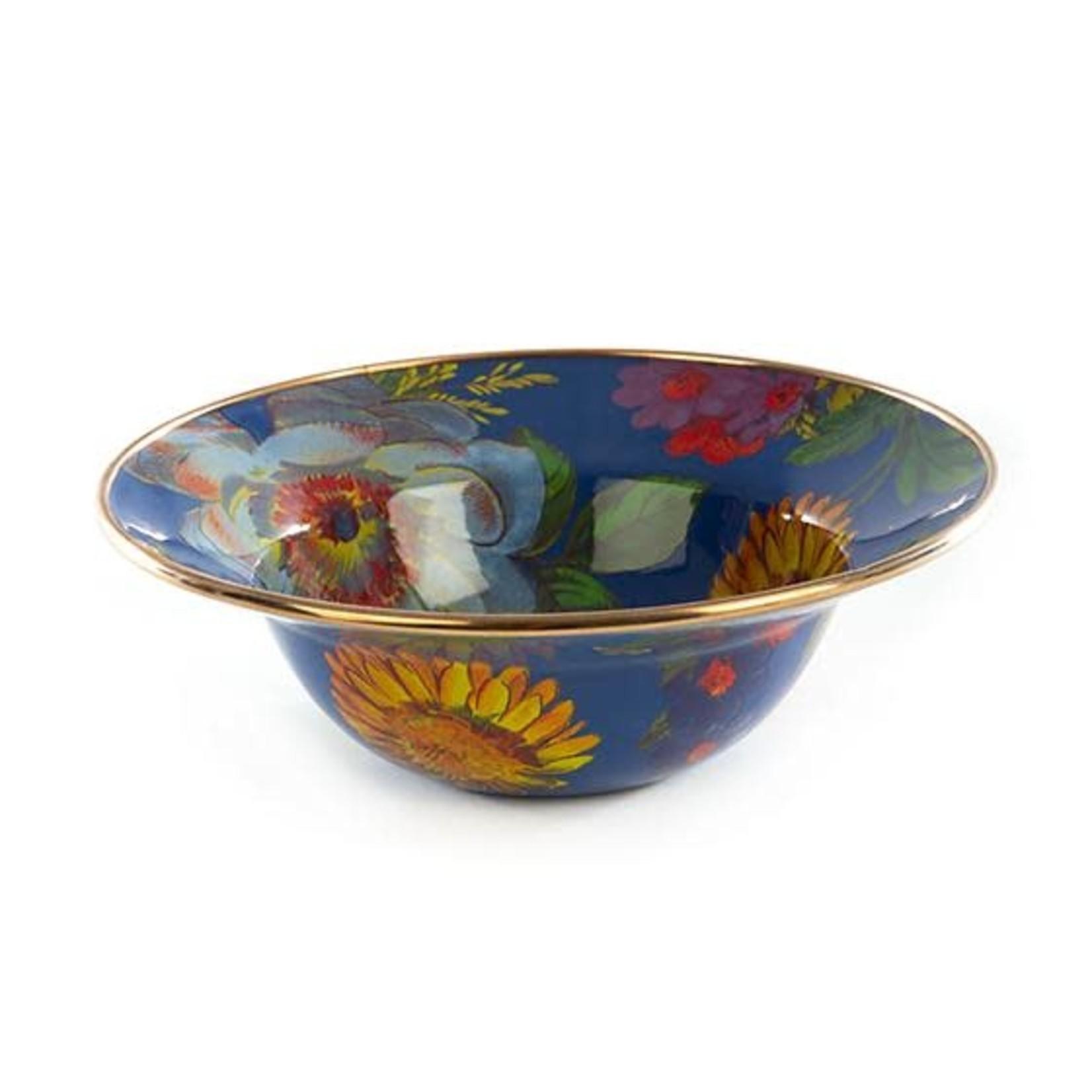MacKenzie Childs Flower Market Breakfast Bowl - Lapis