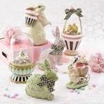 MacKenzie Childs Lace Rabbit - Pink
