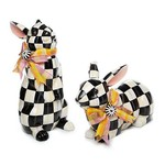 MacKenzie Childs Courtly Check Resting Bunny