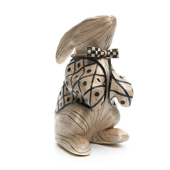MacKenzie Childs Black Tie Bunny