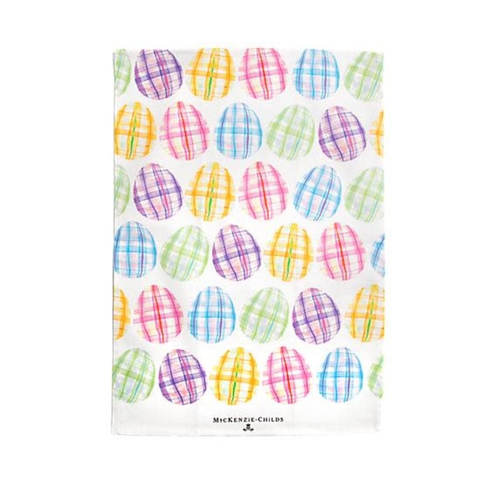 MacKenzie Childs Tartan Eggs Printed Dish Towel