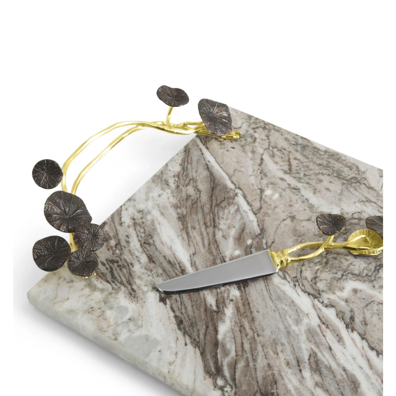 Michael Aram Monet's Garden - Golden Sunset Large Cheese Board with Knife