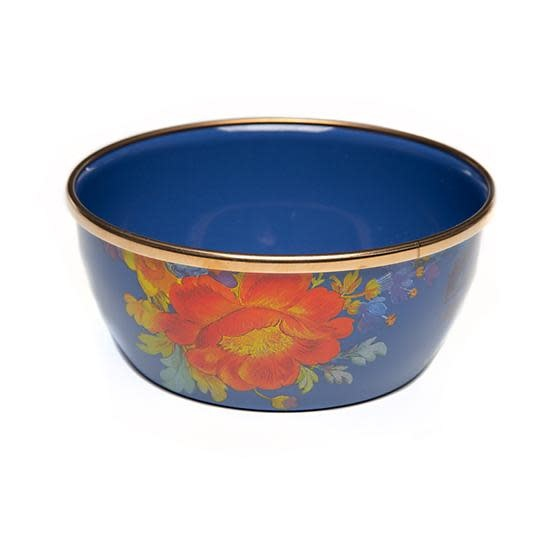MacKenzie Childs Flower Market Pinch Bowl - Lapis