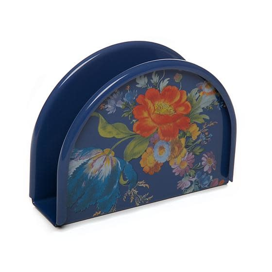 MacKenzie Childs Flower Market Napkin Holder - Lapis