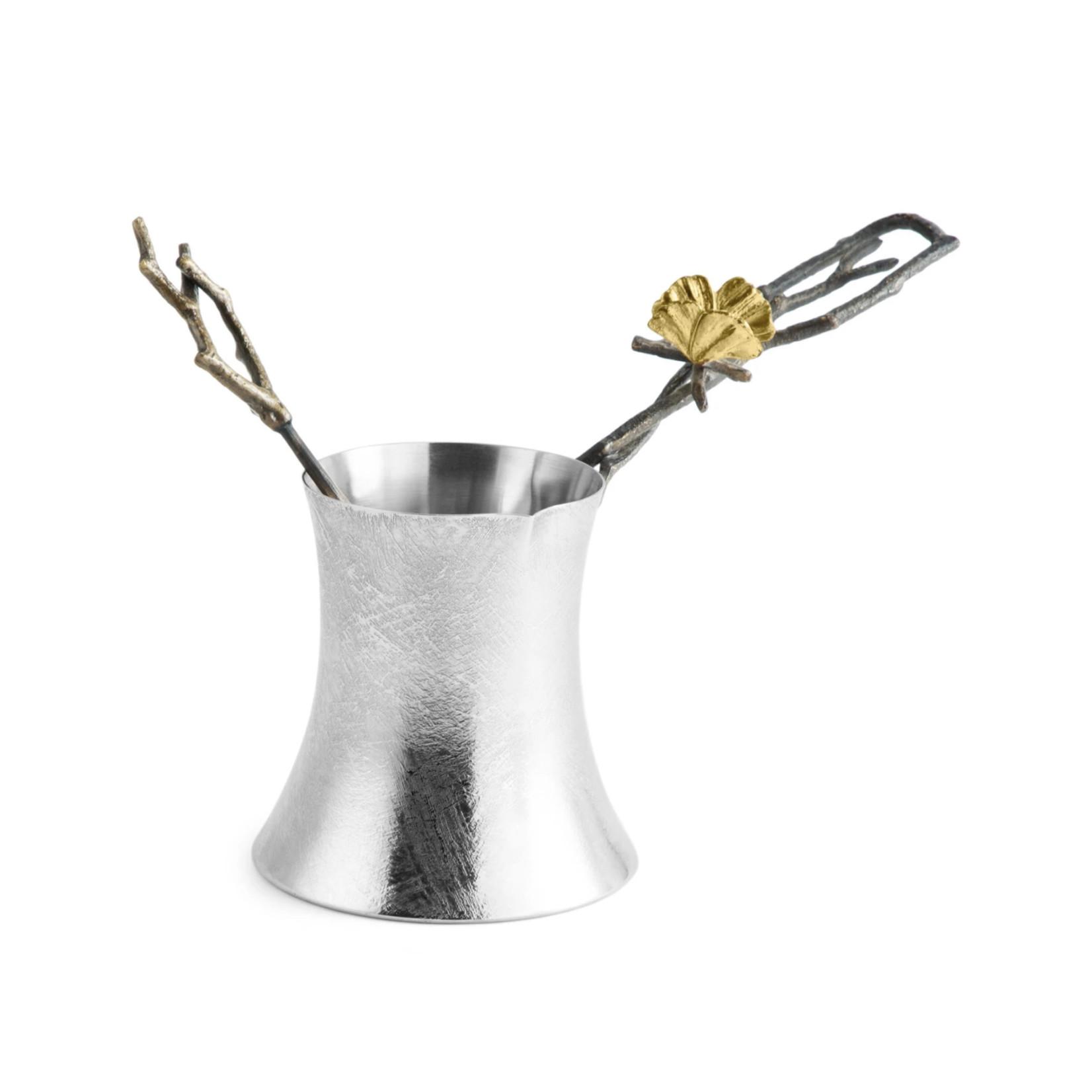Michael Aram Butterfly Ginkgo Coffee Pot with Spoon