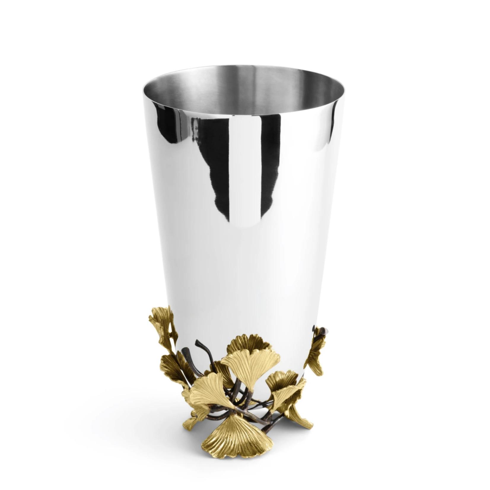 Michael Aram Golden Ginkgo Vase